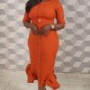 Orange Bella Dress