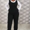 White Structured Shirt with black Pinafore Jumpsuit