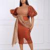 Adaobi Dress (brown)