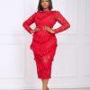 Jane Dress (red)