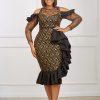 ALICE DRESS (black & gold)